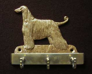 Afghan Hound welcome plaque hanger