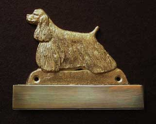 American Cocer Spaniel welcome plaque hanger