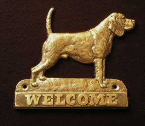 Beagle welcome plaque hanger