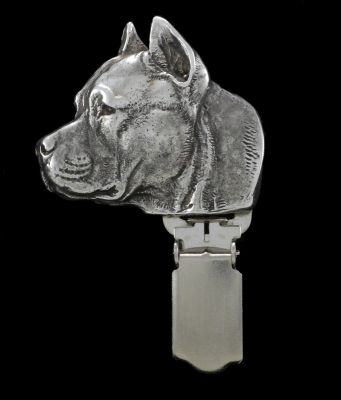 American Staffordshire Terrier clipring number holder