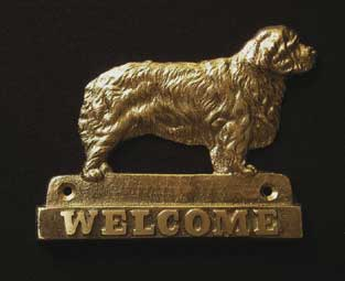 welcome plaque hanger CLUMBER SPANIEL
