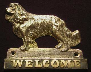 welcome plaque hanger CAVALIER KING CHARLES SPANIEL