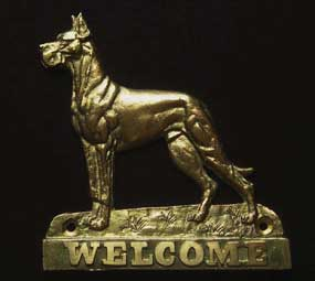 welcome plaque hanger GREAT DANE CROPPED