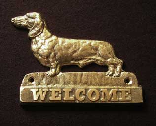 welcome plaque hanger DACHSHUND