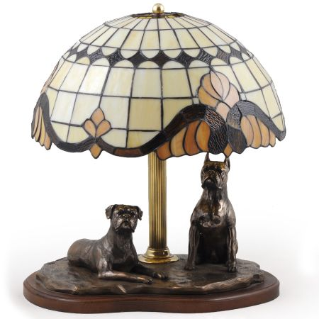 Boxer lamp tiffany shape