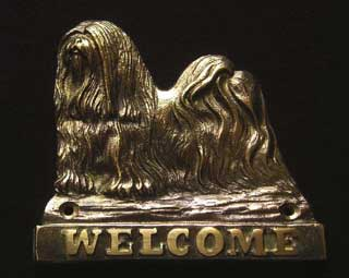 welcome plaque hanger LHASA APSO