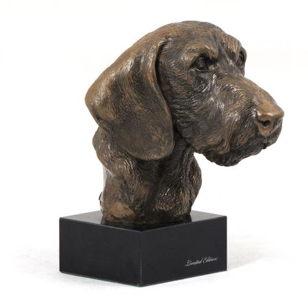 Dachshund Teckel statue on marble base