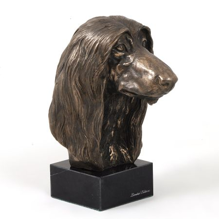 afghan hound statue on marble base