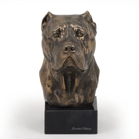 Cane Corso statue on marble base