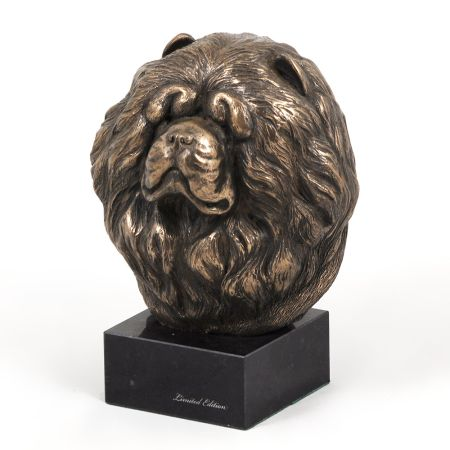 Chow Chow statue on marble base