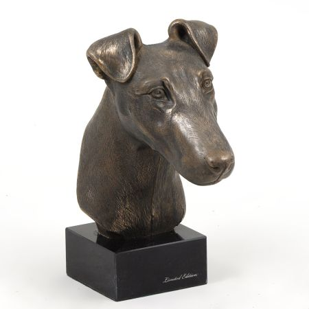 Fox Terrier statue on marble base