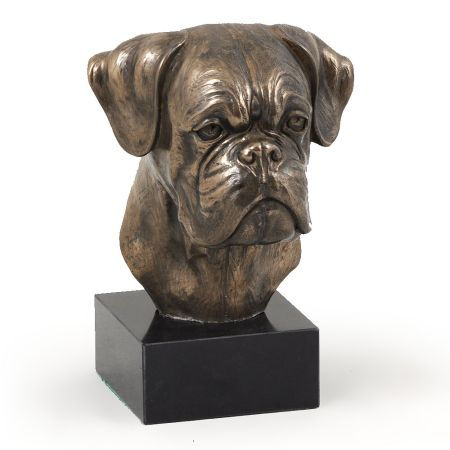 Boxer statue on marble base