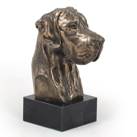 Great Dane Uncropped statue on marble base