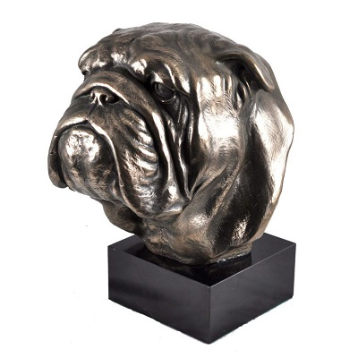 English Bulldog bronze statue