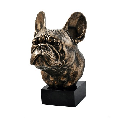 French Bulldog bronze statue