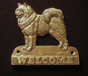 welcome plaque hanger SAMOYED