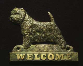 welcome plaque hanger WEST HIGHLAND WHITE TERIER