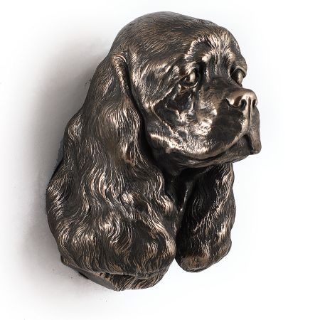 American Cocker Spaniel statue hang it on the wall