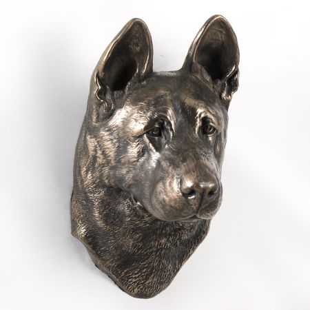 German Shepherd statue hang it on the wall
