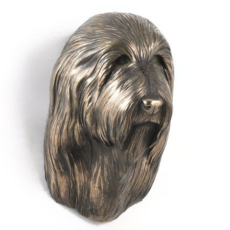 Bearded Collie statue hang it on the wall