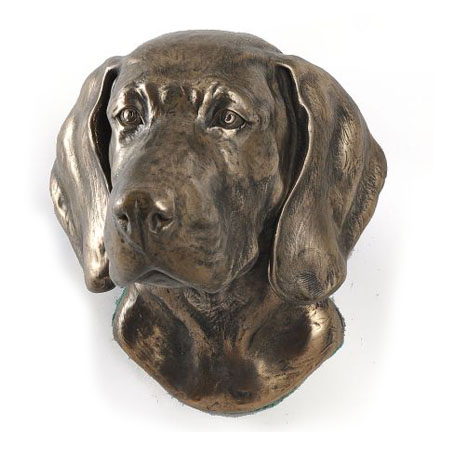 Weimaraner statue hang it on the wall