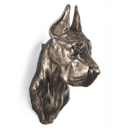 Great Dane Cropped statue hang it on the wall