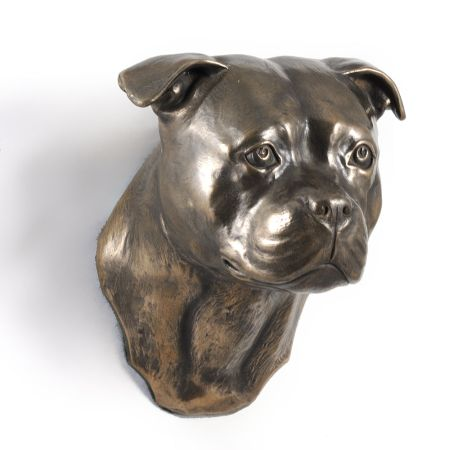 English Staffordshire Terrier statue hang it on the wall